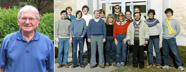 Perry Frey photo along with early lab group photo