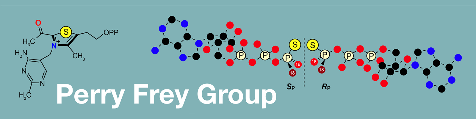 Perry Frey header illustration of compounds